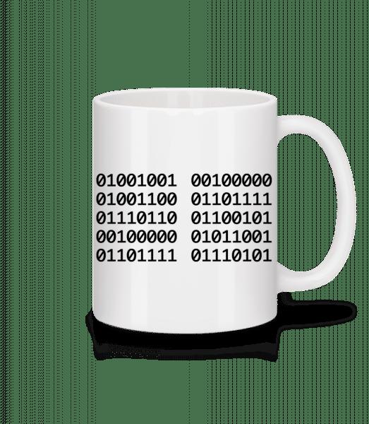 I Love You Code - Mug - White - Vorn
