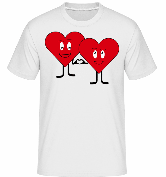 Two Hearts Love Each Other -  Shirtinator Men's T-Shirt - White - Vorn