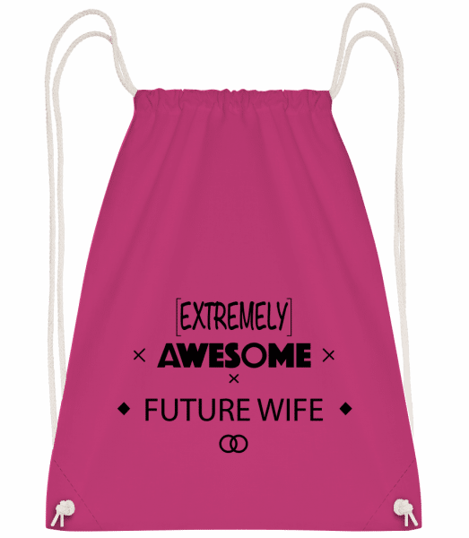Awesome Future Wife - Drawstring Backpack - Magenta - Vorn