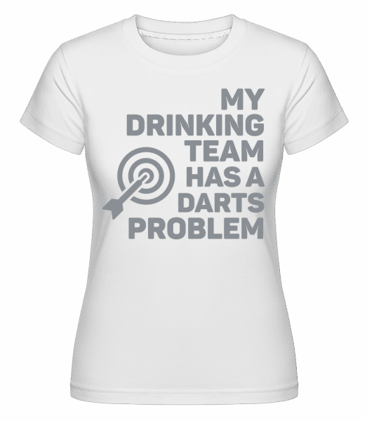 Drinking Darts -  Shirtinator Women's T-Shirt - White - Vorn