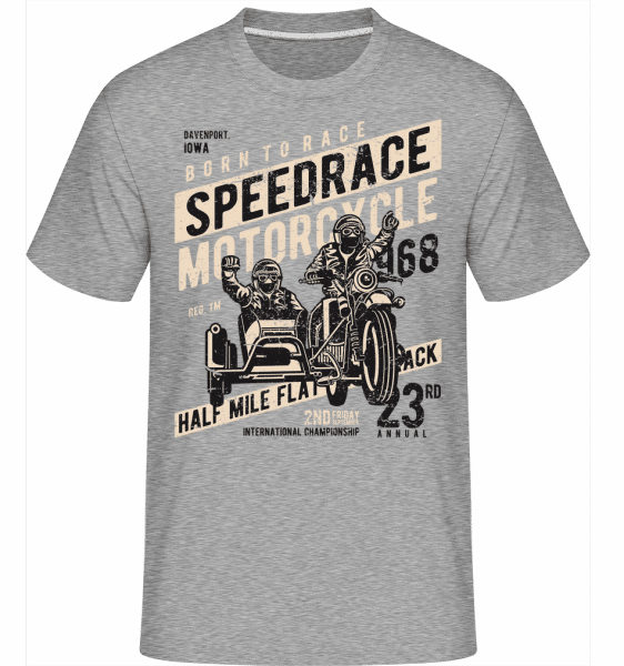 Speedrace -  Shirtinator Men's T-Shirt - Heather grey - Front
