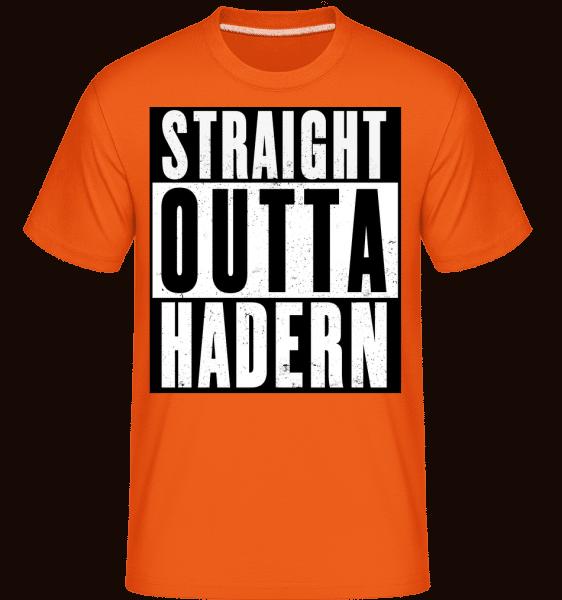 Straight Outta Hadern - Shirtinator Männer T-Shirt - Orange - Vorn