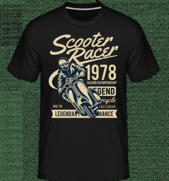 Scooter Racer -  Shirtinator Men's T-Shirt - Black - Front
