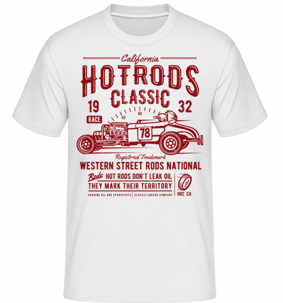 Hot Rods Race Classic -  Shirtinator Men's T-Shirt - White - Vorn