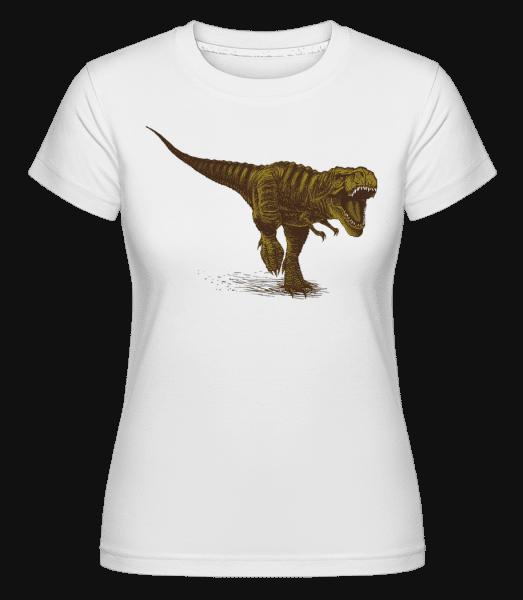 T rex -  Shirtinator tričko pro dámy - Bílá - Napřed