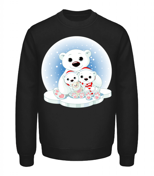Polar Bears - Unisex Sweatshirt - Black - Vorn