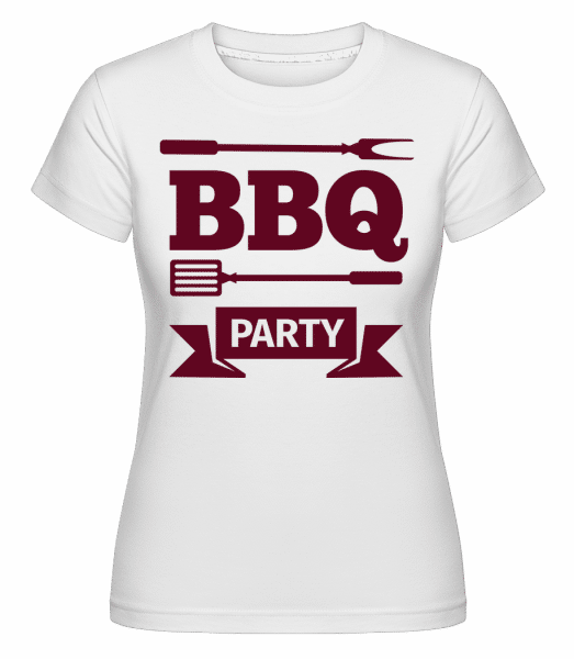 BBQ Party Icon -  Shirtinator Women's T-Shirt - White - Vorn