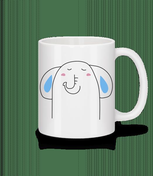 Cute Elephant - Keramický hrnek - Bílá - Napřed