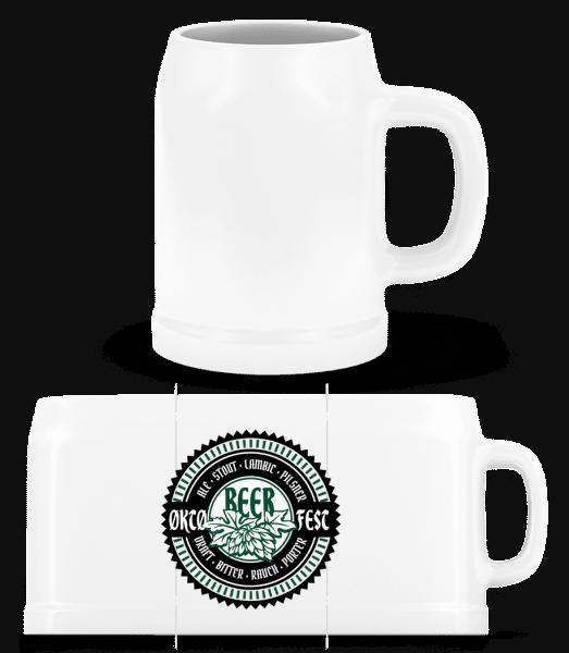 Oktoberfest Beer - Beer Mug - White - Vorn
