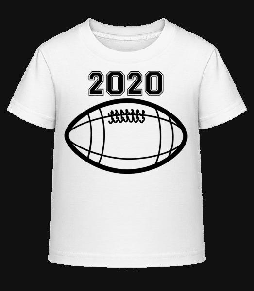 Football 2020 - Kid's Shirtinator T-Shirt - White - Vorn
