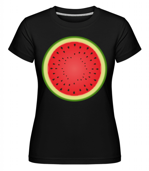 Watermelon -  Shirtinator Women's T-Shirt - Black - Vorn
