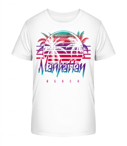 Manhattan Beach - Kid's Premium Bio T-Shirt - White - Vorn