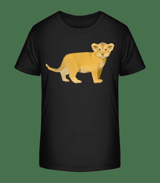 lvíček - Detské Premium Bio tričko - Černá - Napřed
