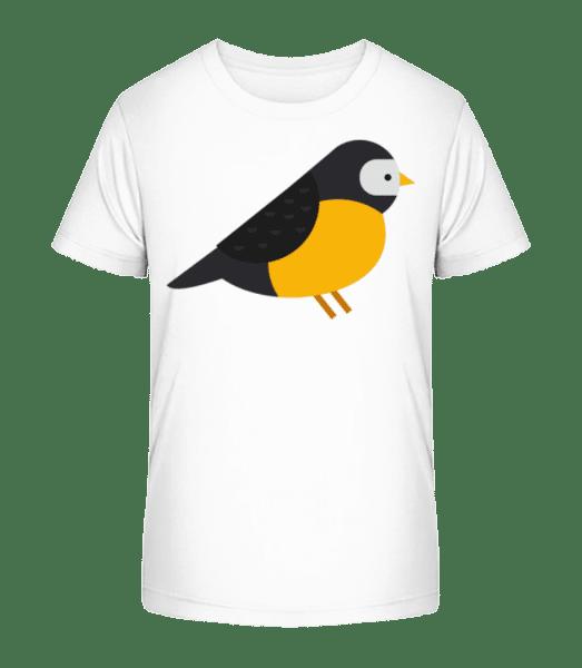 Titmouse Image - Kid's Premium Bio T-Shirt - White - Vorn