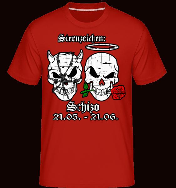 Metal Sternzeichen Schizo - Shirtinator Männer T-Shirt - Rot - Vorn