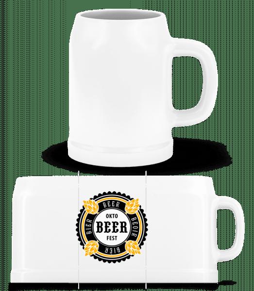 Oktobeer Fest - Beer Mug - White - Front