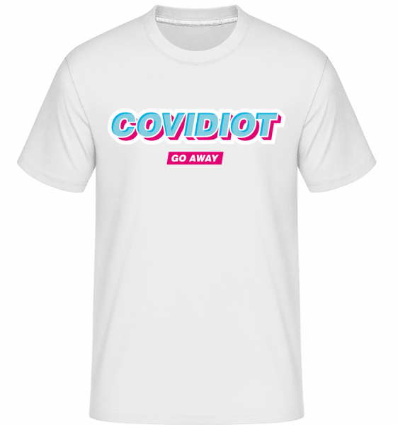 Covidiot -  Shirtinator Men's T-Shirt - White - Front