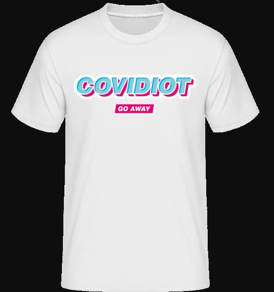 Covidiot - Shirtinator Männer T-Shirt - Weiß - Vorn