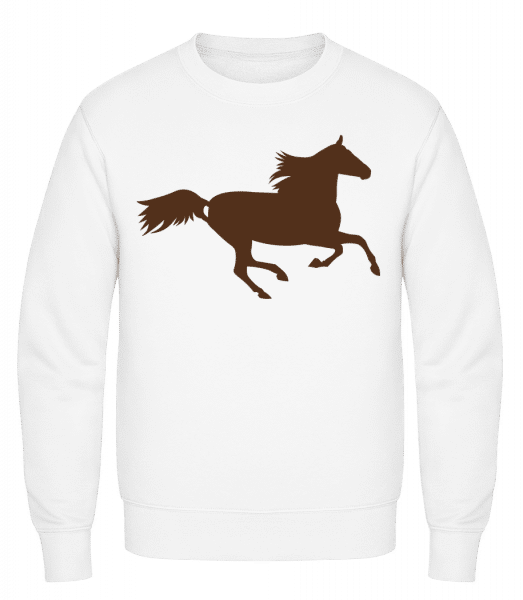 Horse - Classic Set-In Sweatshirt - White - Vorn