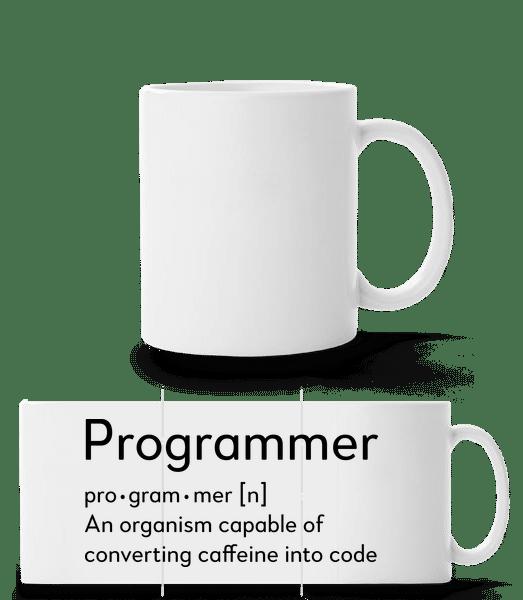 programátor Definition - Panoráma hrnek - Bílá - Napřed