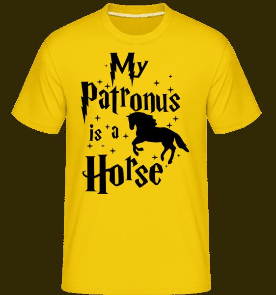 My Patronus Is A Horse -  Shirtinator Men's T-Shirt - Golden yellow - Vorn