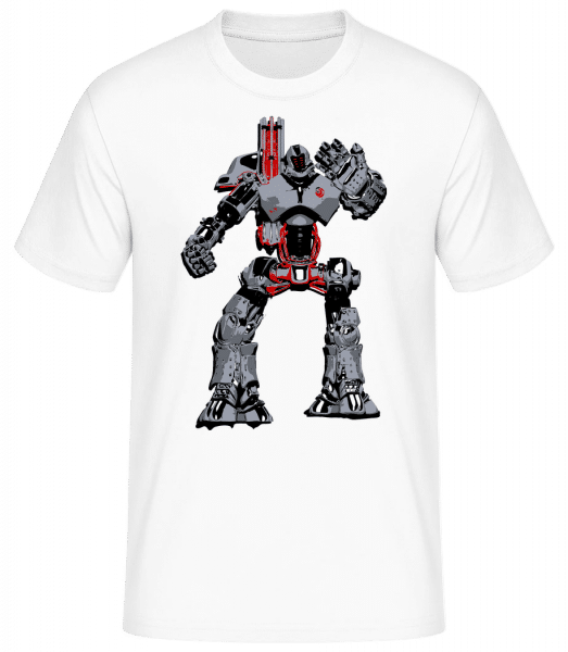Fighting Robots - Men's Basic T-Shirt - White - Vorn
