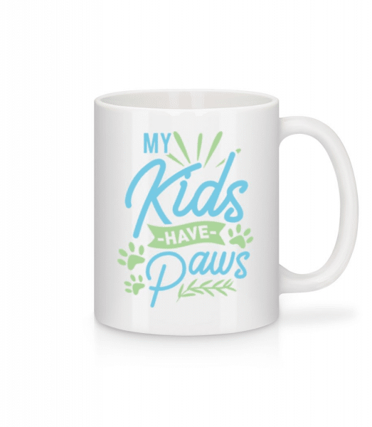 My Kids Have Paws - Mug - White - Front