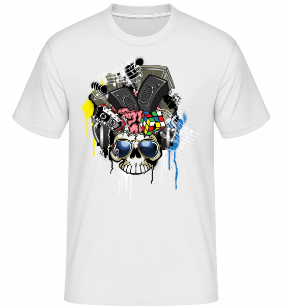 Creative Skull -  Shirtinator Men's T-Shirt - White - Vorn
