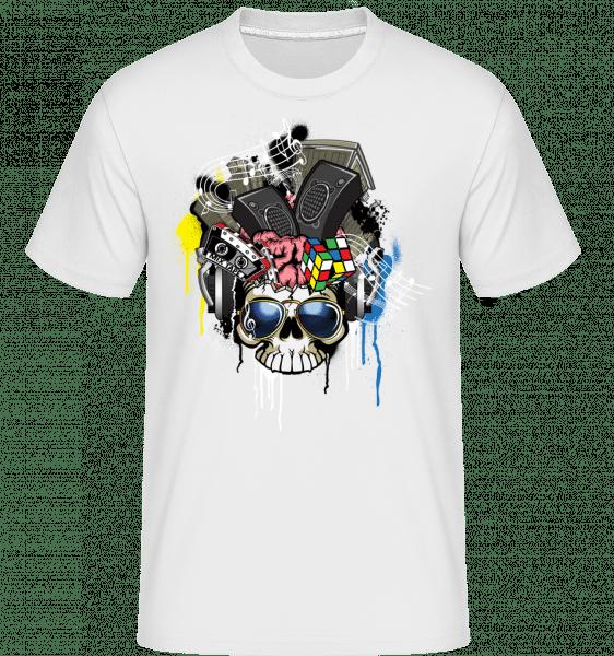 Kreativer Totenschädel - Shirtinator Männer T-Shirt - Weiß - Vorn