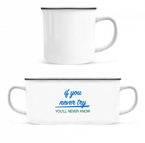 Try - Enamel-cup - White - Vorn