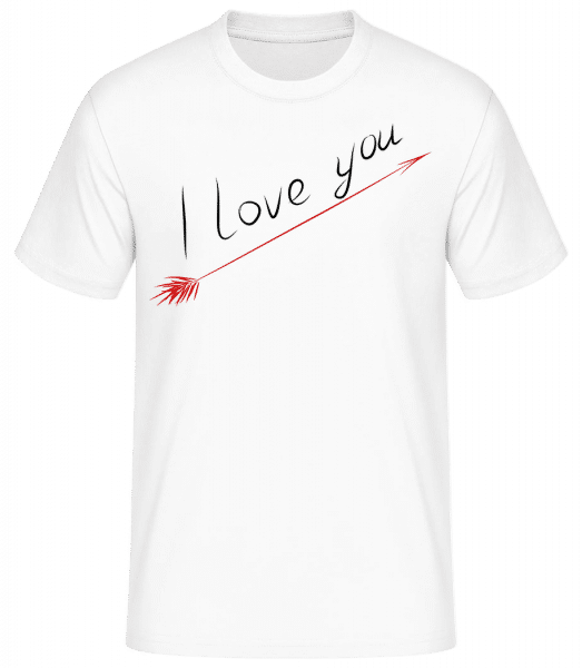 I Love You - Basic T-Shirt - Blanc - Vorn