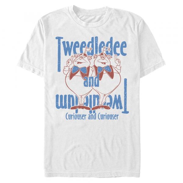 Tweedles - Disney Alice in Wonderland - Men's T-Shirt - White - Front