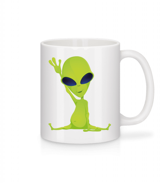 Alien Does Yoga - Mug - White - Vorn