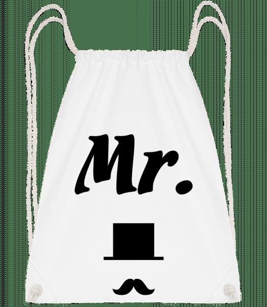 Mr. Wedding - Sac à dos Drawstring - Blanc - Vorn