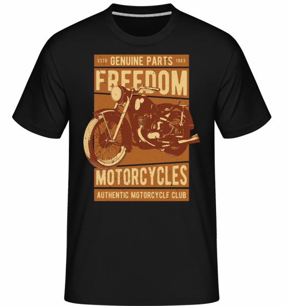 Freedom Motorcycles -  Shirtinator Men's T-Shirt - Black - Front