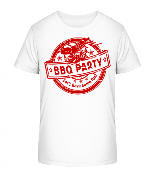 BBQ Party Sign - Kid's Premium Bio T-Shirt - White - Front
