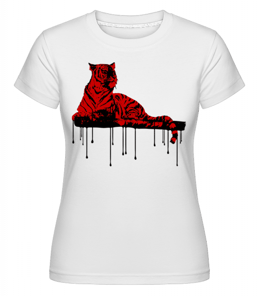 Red Tiger -  Shirtinator Women's T-Shirt - White - Vorn
