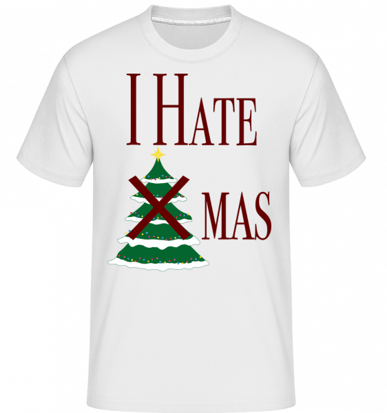 I Hate Xmas -  Shirtinator Men's T-Shirt - White - Vorn
