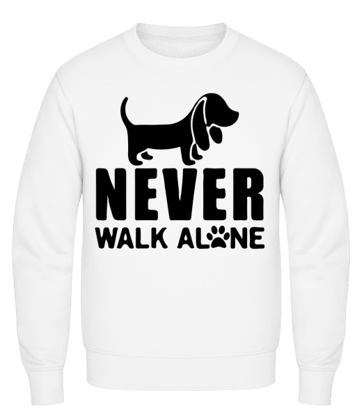 Never Walk Alone Dog - Classic Set-In Sweatshirt - White - Vorn