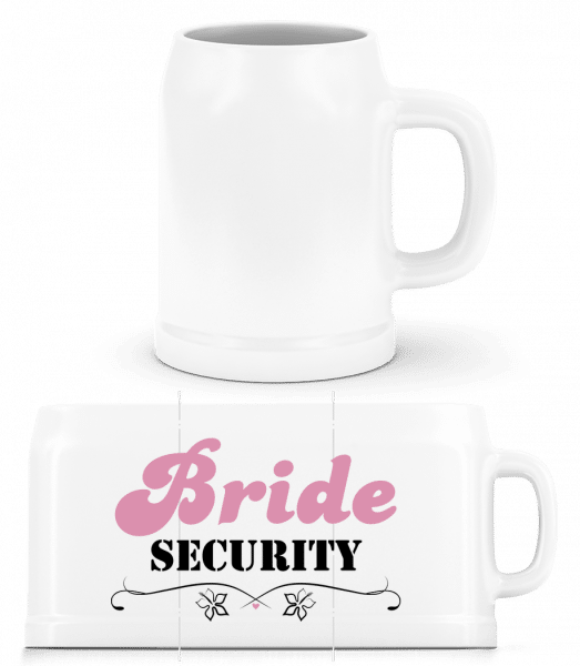 Bride Security - Beer Mug - White - Vorn