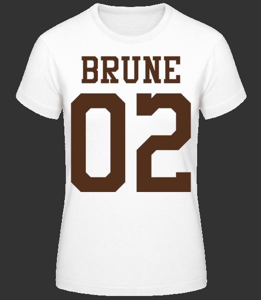 Brune 02 - T-shirt standard Femme - Blanc - Vorn