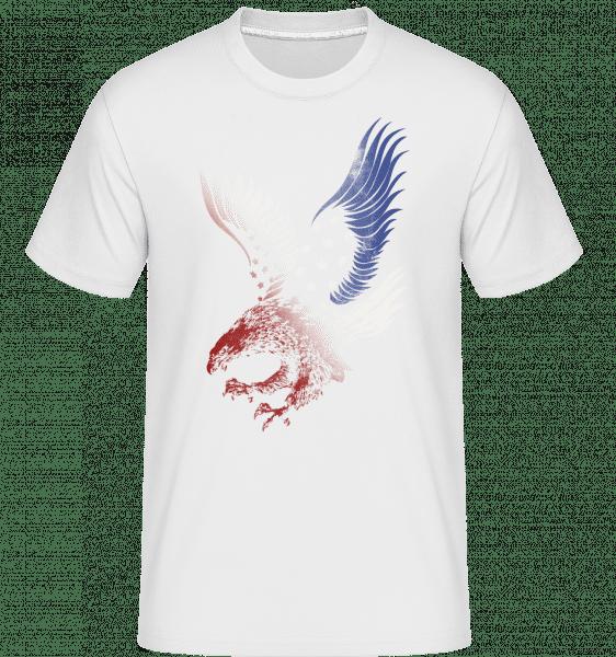 Amerikanischer Adler - Shirtinator Männer T-Shirt - Weiß - Vorn