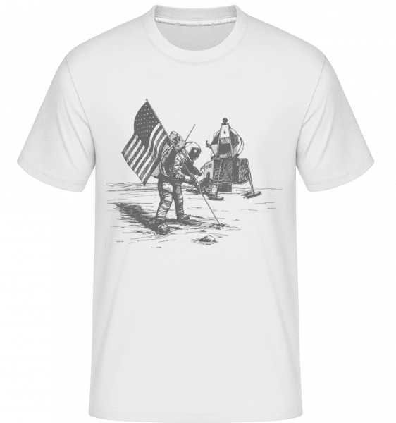 Atterrissage Lunaire Apollo -  T-Shirt Shirtinator homme - Blanc - Vorn