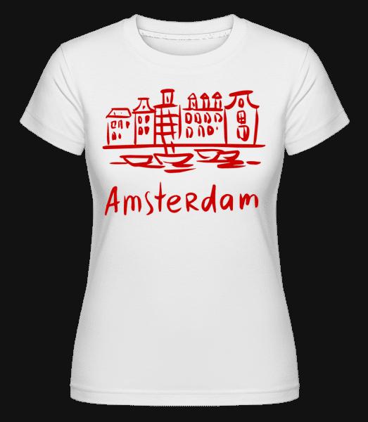 Amsterdam Chinese Style -  Shirtinator Women's T-Shirt - White - Vorn