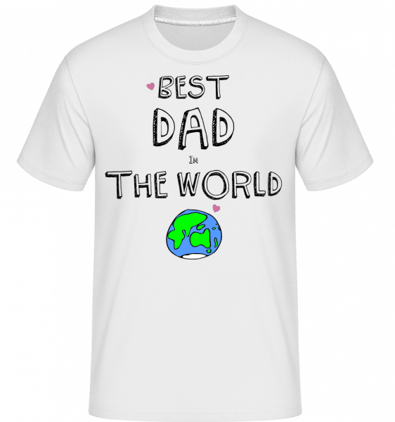 Best Dad In The World - Shirtinator Männer T-Shirt - Weiß - Vorn