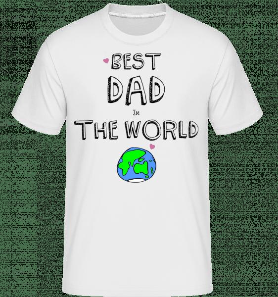 Best Dad In The World -  T-Shirt Shirtinator homme - Blanc - Vorn