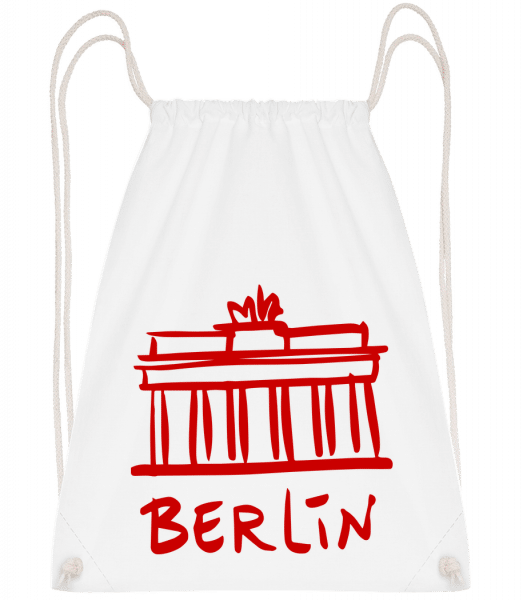 Berlin Sign - Drawstring Backpack - White - Vorn