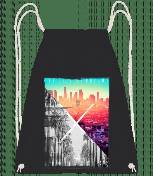 Los Angeles Dream - Drawstring Backpack - Black - Vorn