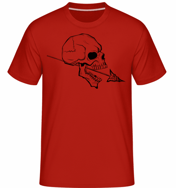 Skull With Spear Tattoo -  Shirtinator Men's T-Shirt - Red - Vorn