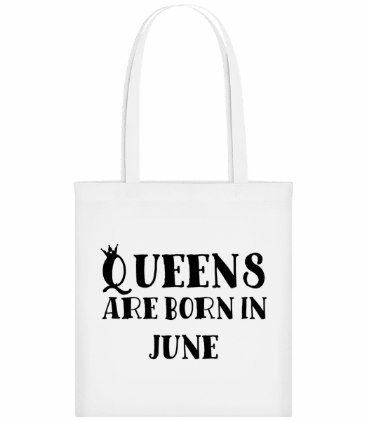 Queens Are Born In June - Taška Carrier - Bílá - Napřed